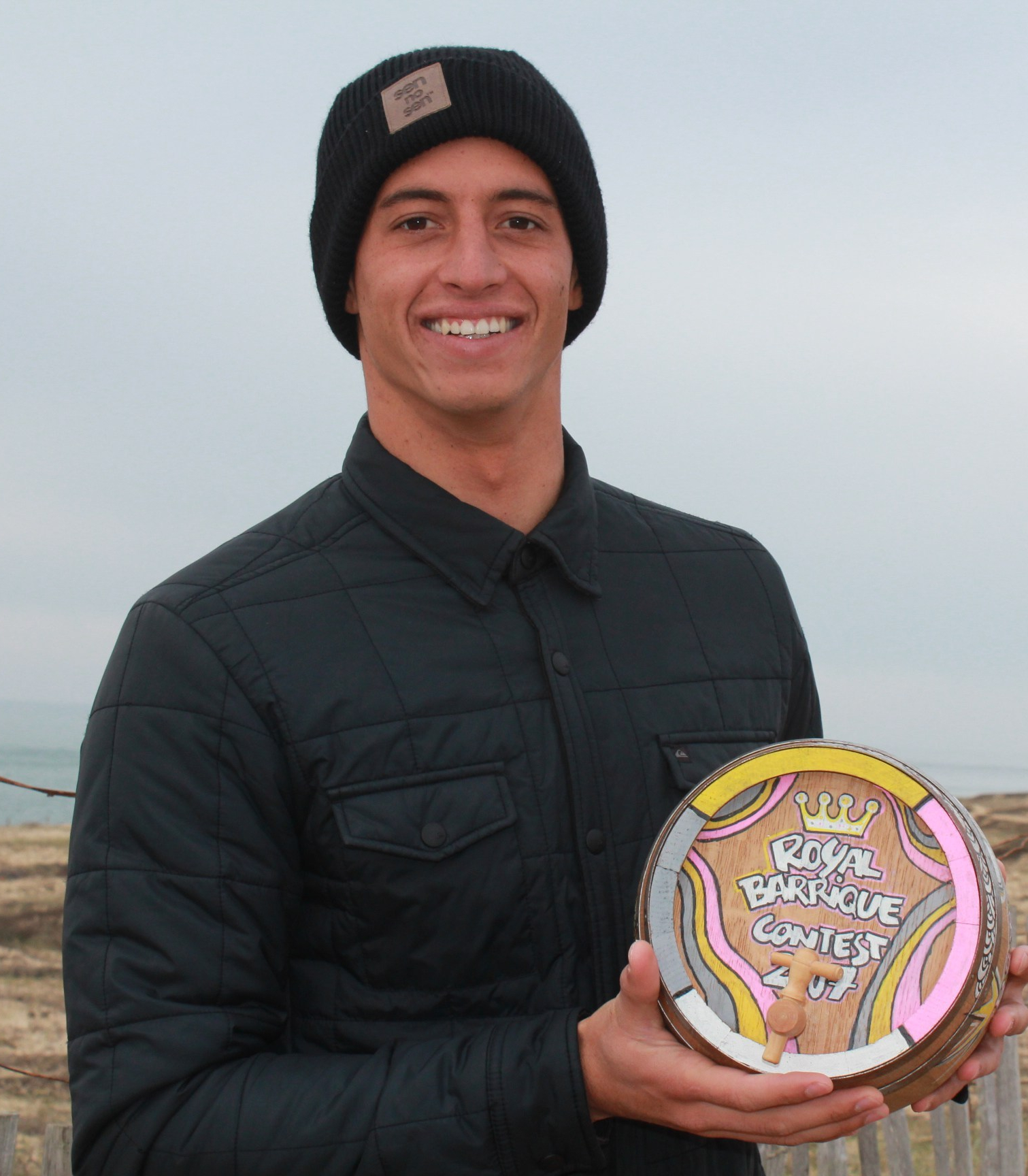 Maxime Huscenot avec le trophée du Royal Barrique 2016